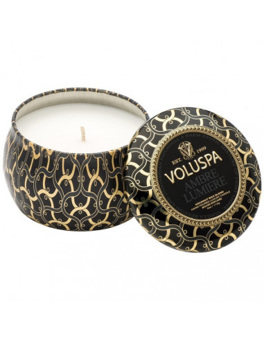 Ambre Lumiere - Petite Decorative Tin Candle